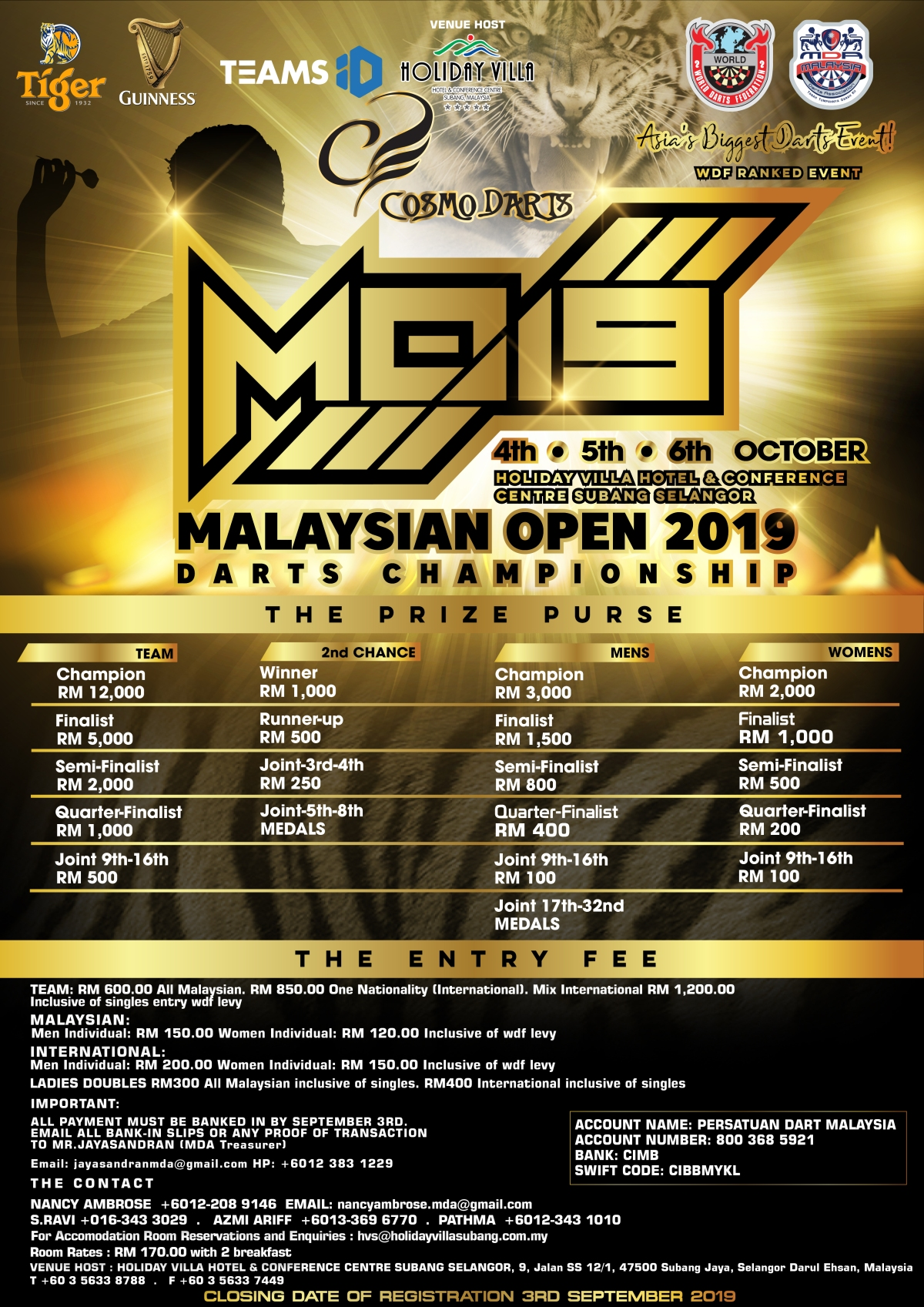 MDA Calendar – Malaysian Darts Association